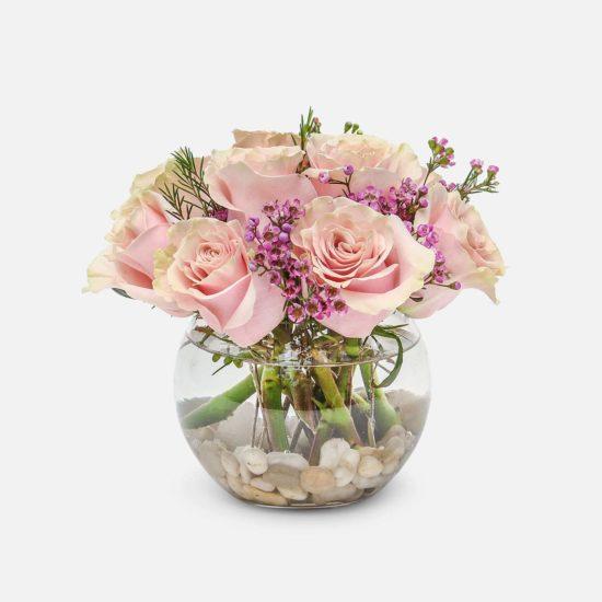 Premium Pink Roses and Greens